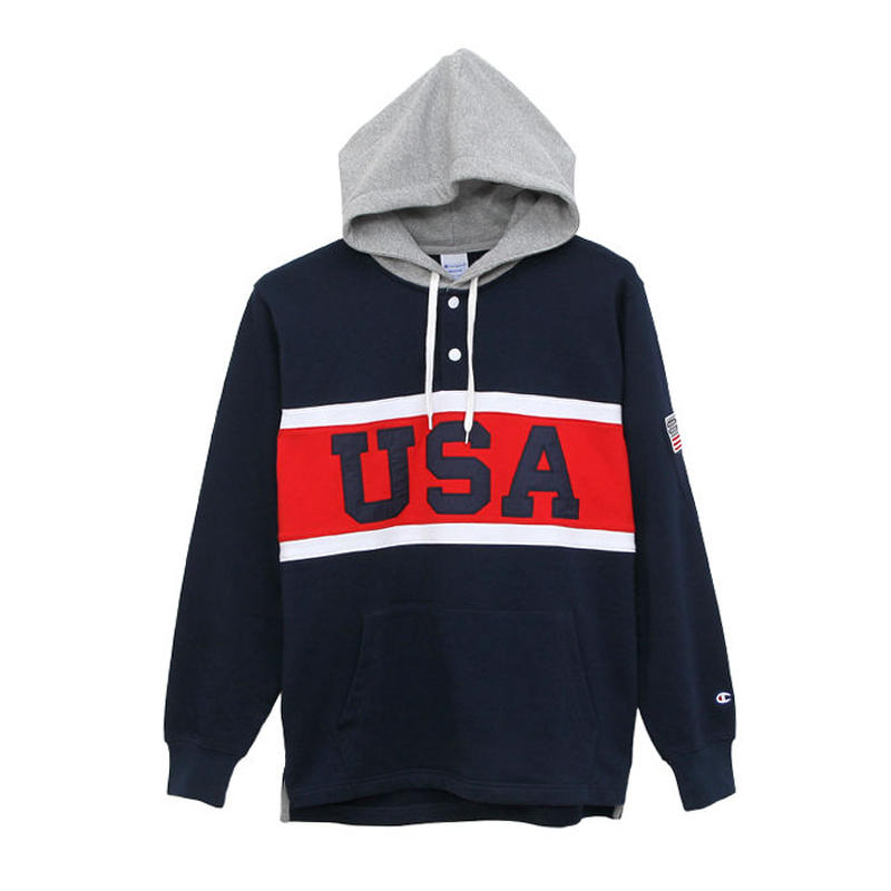 【ラス1】Champion ''USA'' pullover sweat hoodie  (Navy)
