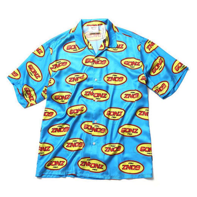 【残り僅か】Mark Gonzales logo open collar shirt (Blue)