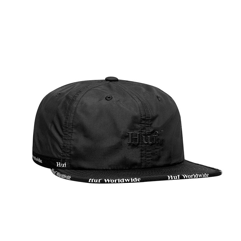 【残り僅か】HUF MIDTOWN 6 PANEL HAT (Black)