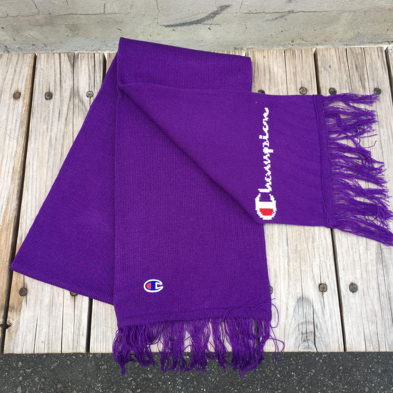 【ラス1】Champion JACQUARD LOGO SCARF (Purple)