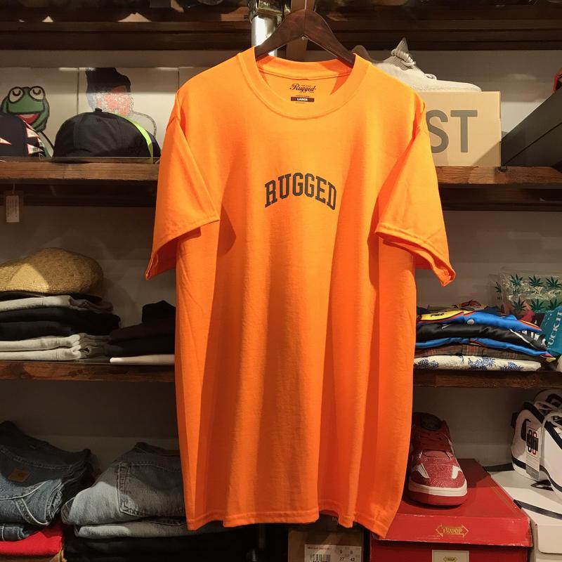 """【残り僅か】RUGGED """"SMALL ARCH"""" tee  (Orange)"""