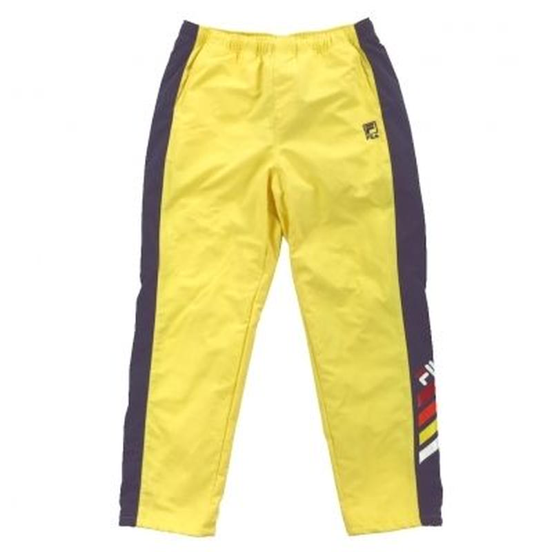 【残り僅か】FILA side line cotton blend nylon pants (Yellow)
