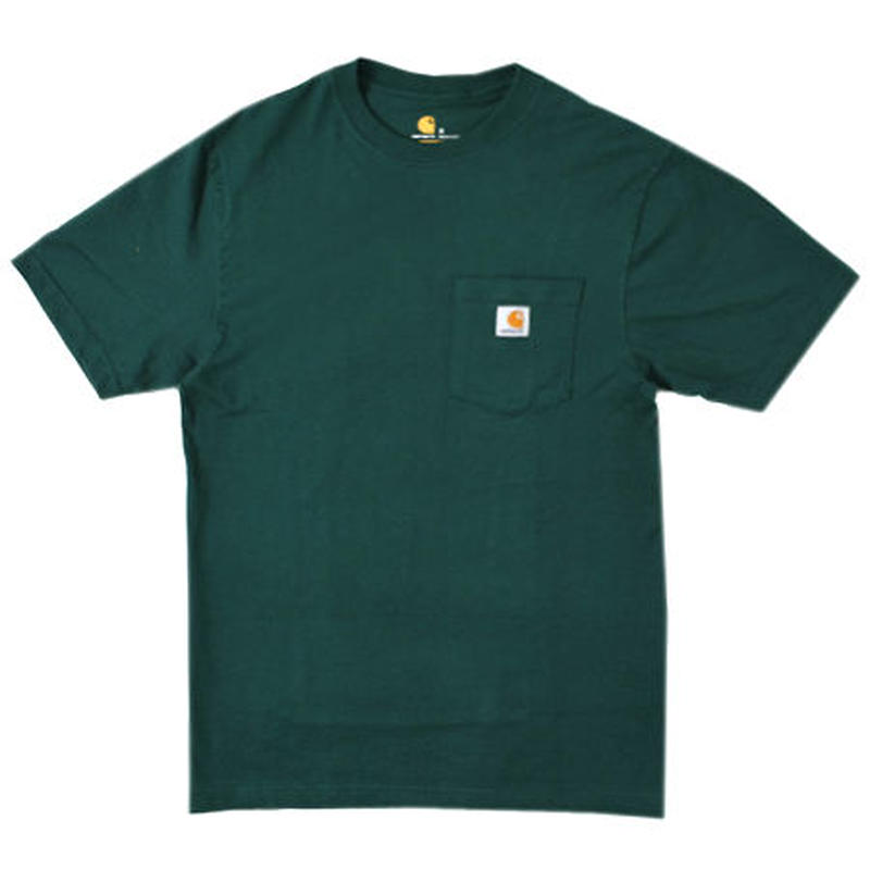 【残り僅か】Carhartt pocket tee (Dark green)