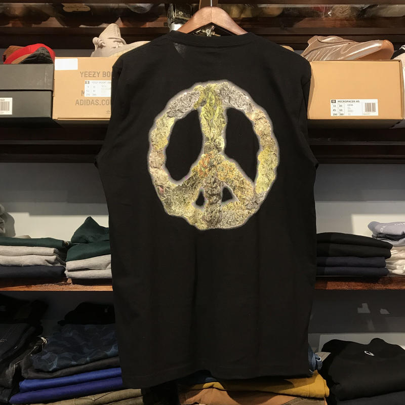 "RUGGED ""PEACE BUDS""  L/S tee (Black)"