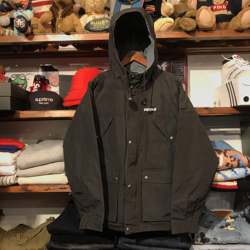 "【ラス1】RUGGED  on SIERRA ""ARMY ARCH"" mountain parka (Black)"
