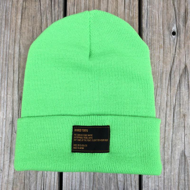 【ラス1】RUGGED beanie(Lime Green×Black)