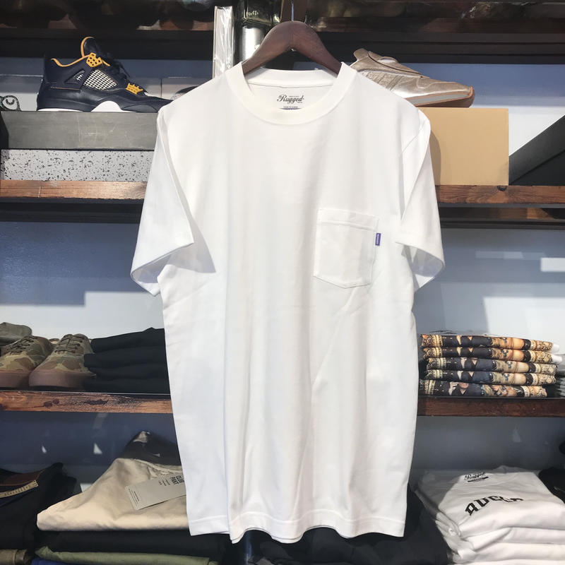 【ラス1】RUGGED cotton pocket tee (White/5.6oz)