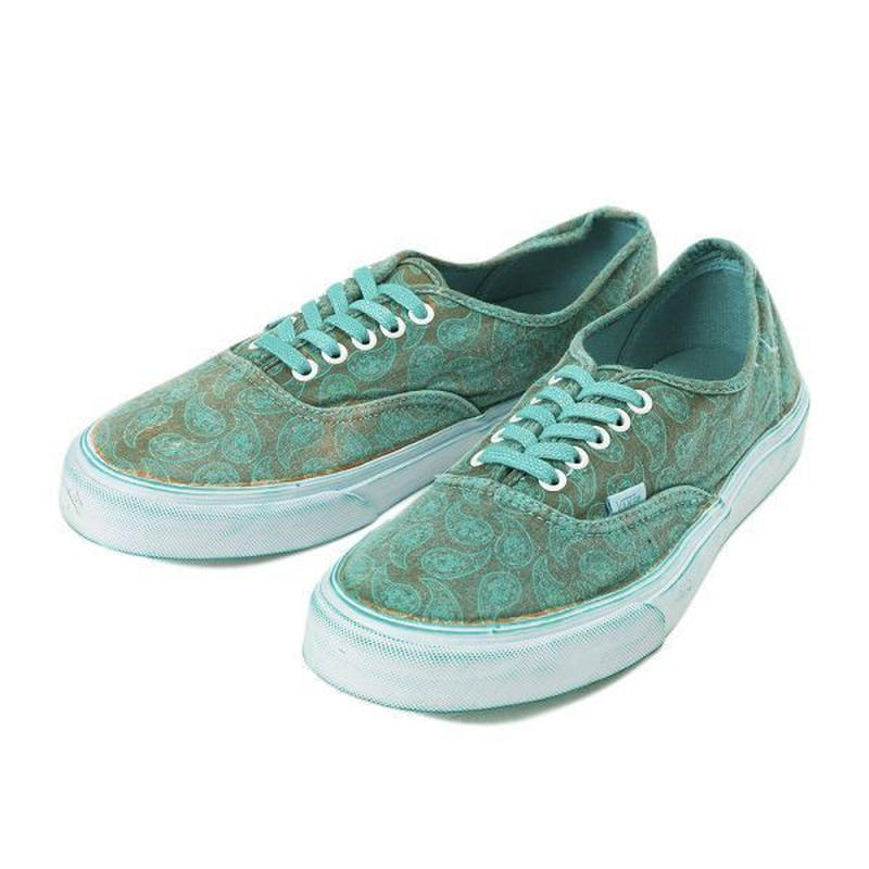 【ラス1】Vans Authentic Overwash Paisley ( Turquoise)