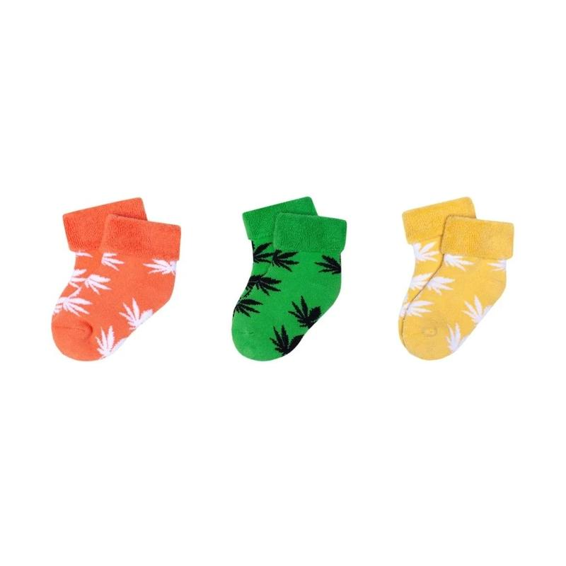 【残り僅か】HUF PLANTLIFE BABY SEED SOCK (Green/Orange/Yellow)