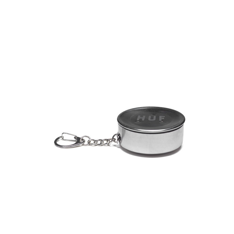 HUF FUCK IT SHOT GLASS KEYCHAIN (SILVER METAL)