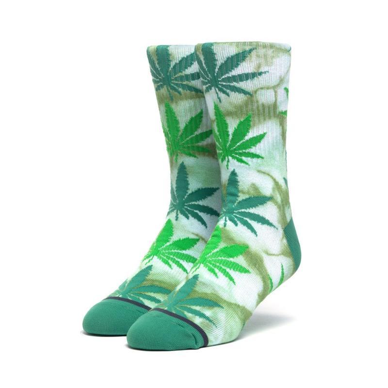 HUF TIE-DYE PLANTLIFE SOCK (Green)