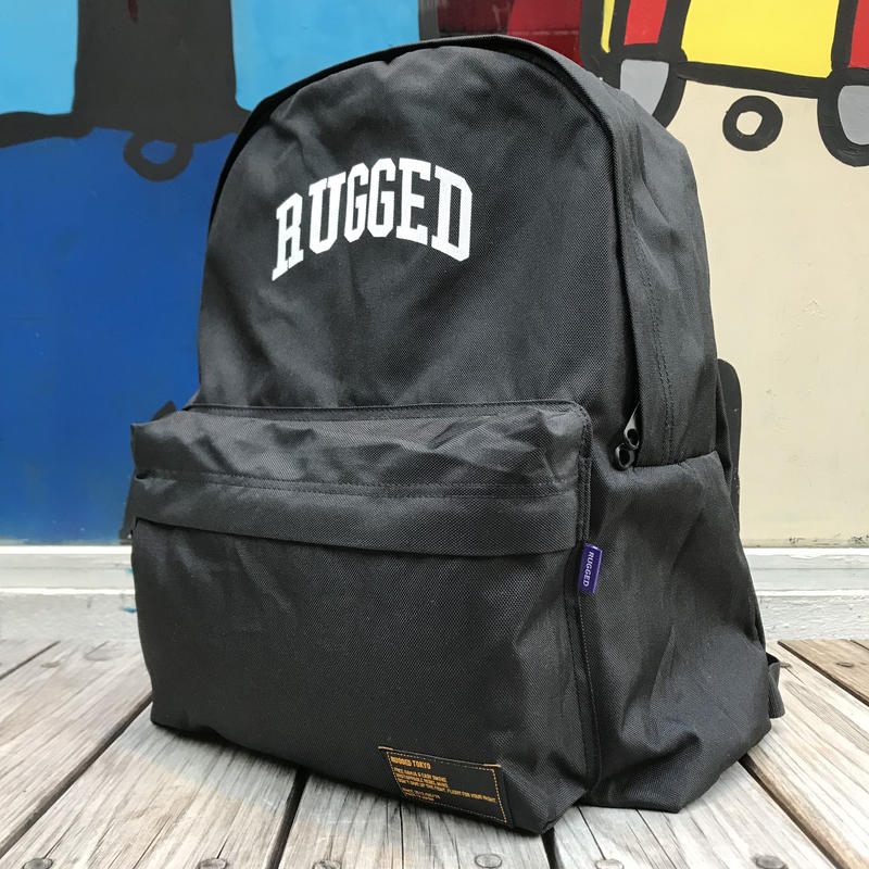 "RUGGED ""ARCH LOGO"" daypack (Black)"