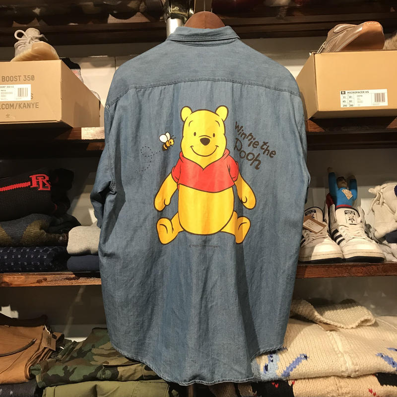 ANAHEIM CLUB pooh denim shirt