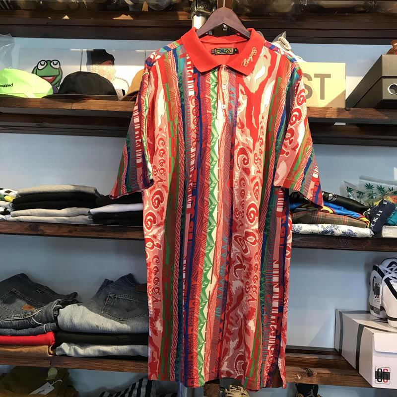 COOGI knit polo shirt (XL)