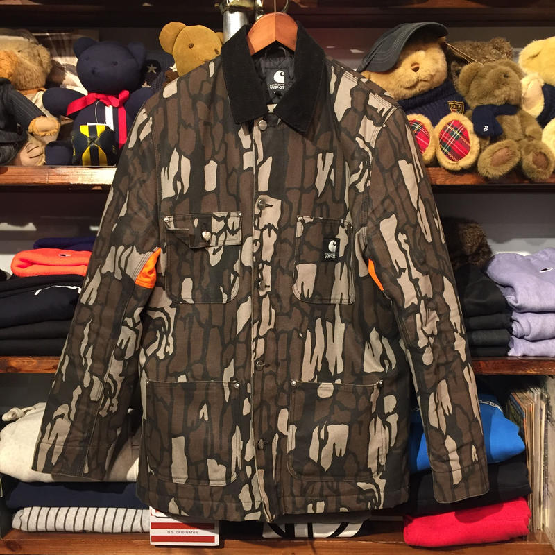 "Carhartt WIP ""25 YEARS PROGRESS""  duck work Camo Trebark jacket (L)"