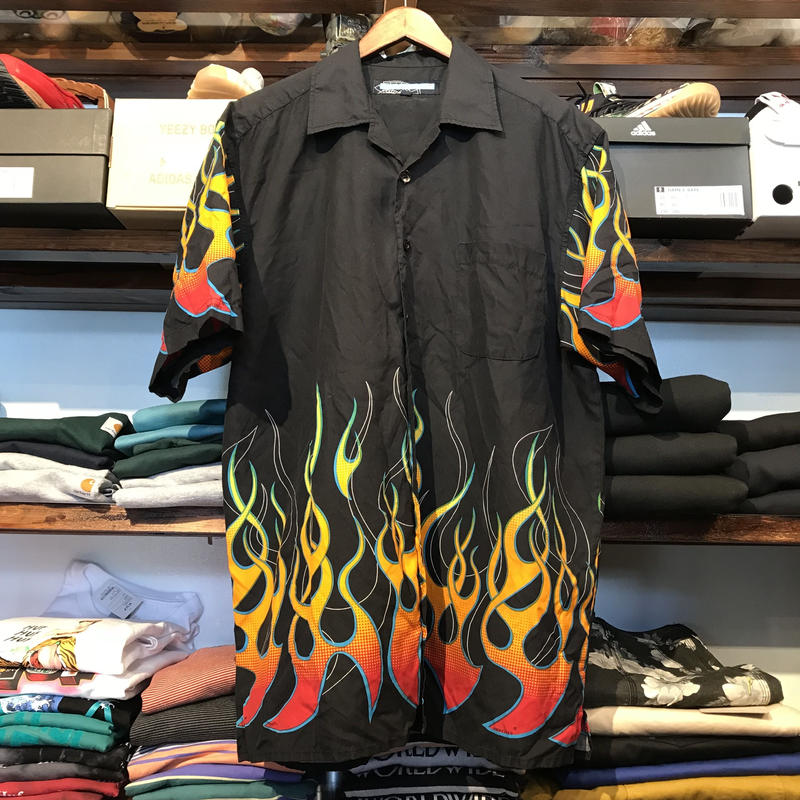 POINT ZERO fire pattern S/S shirt (L)