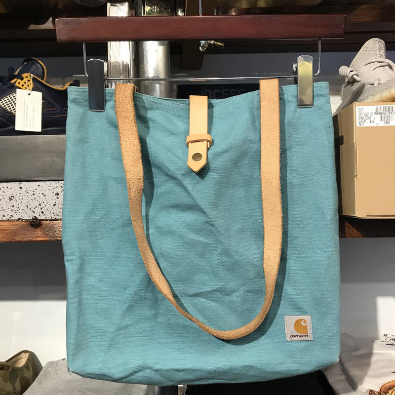 Carhartt canvas leather tote