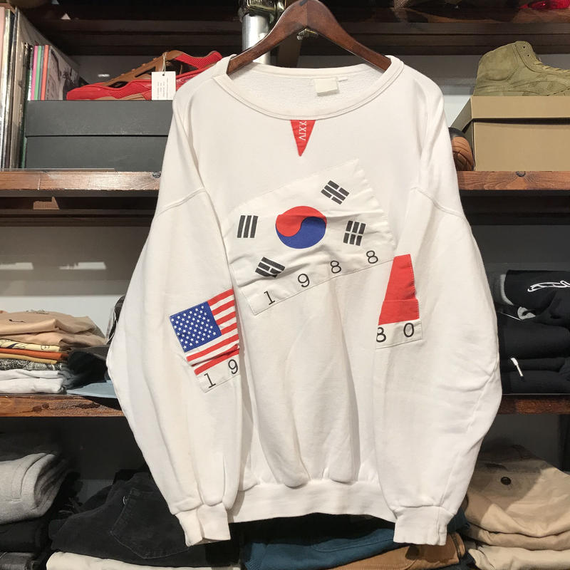 Flag pull over sweat