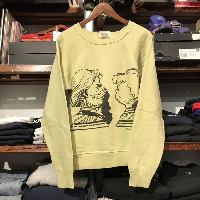 Champin Vintage Snoopy raglan sweat (S)