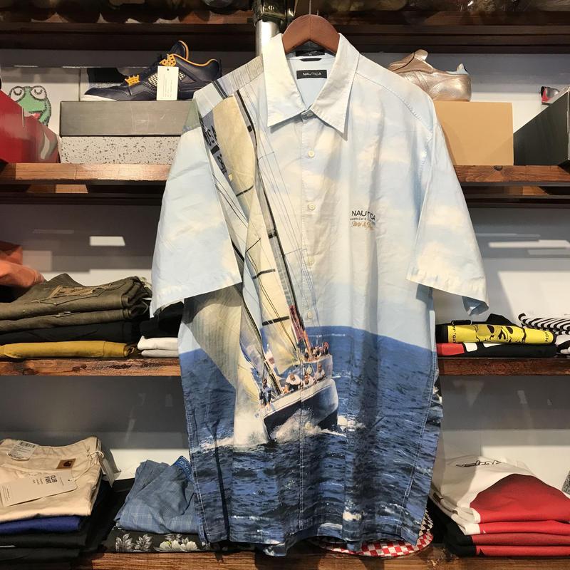 NAUTICA yatch graphic shirt (XL)