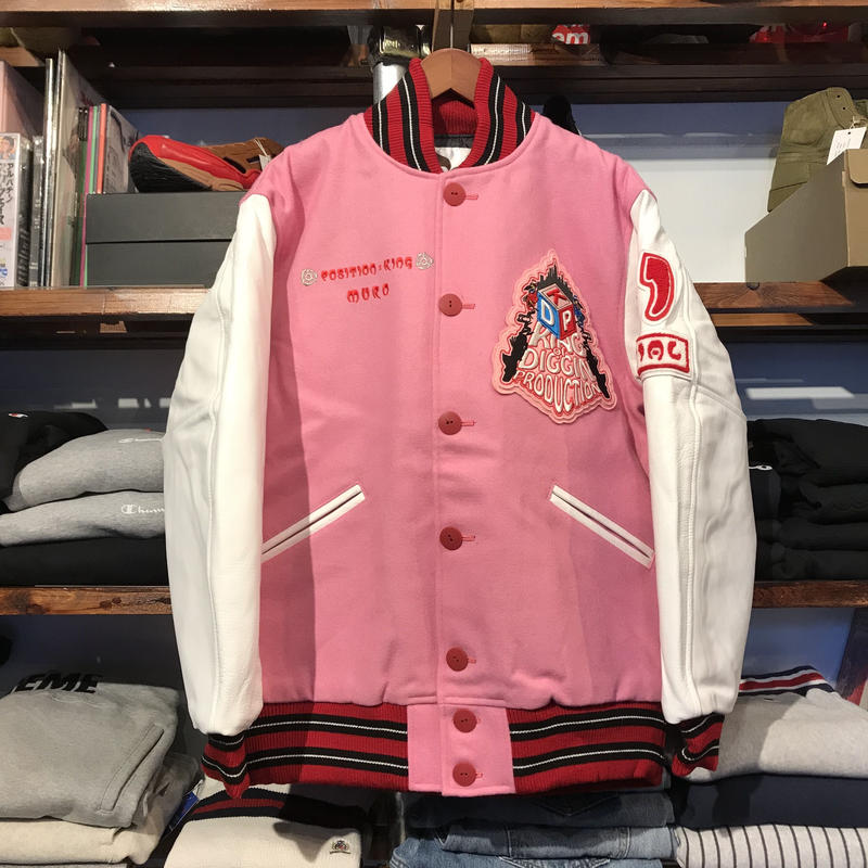 【DeadStock】King of diggin Wappen stadium jacket(L)