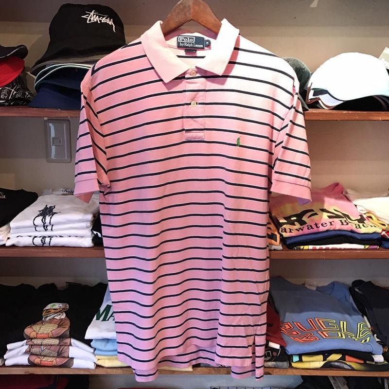 POLO RALPH LAUREN border polo shirt (M)