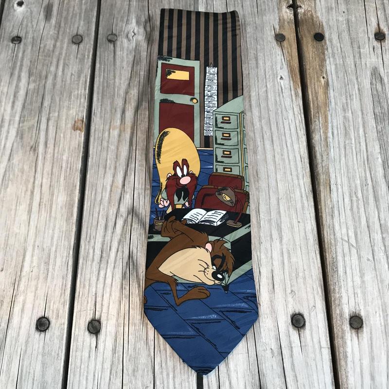 LOONEY TUNES Tasmanian & Yosemite necktie