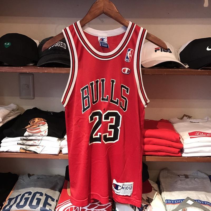 "【KIDS】Champion NBA CHICAGO BULLS ""JORDAN 23""basketball jersey (M)"