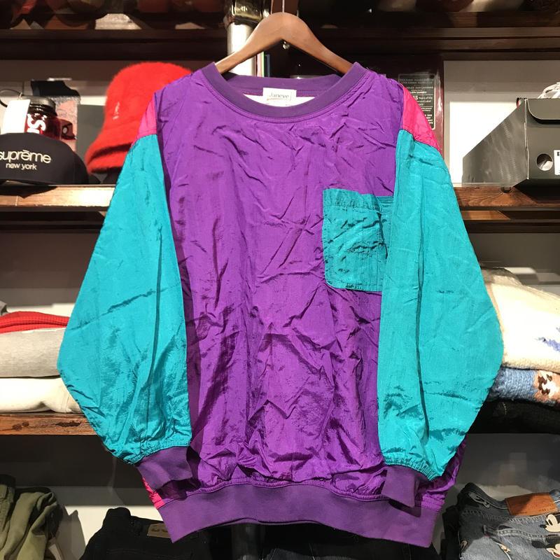 Janet pullover nylon pocket tops (Purple/Green/Pink)
