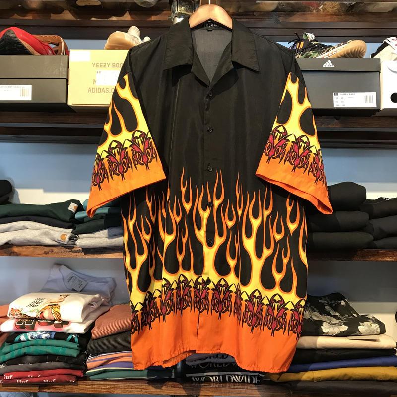 FERUGINI fire pattern S/S shirt (2XL)