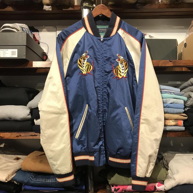 "POLO RALPH LAUREN ""hawaii"" satin souvenir jacket (M)"
