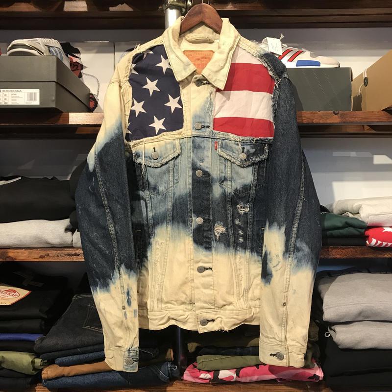 Levi's custom star flag jacket (L)