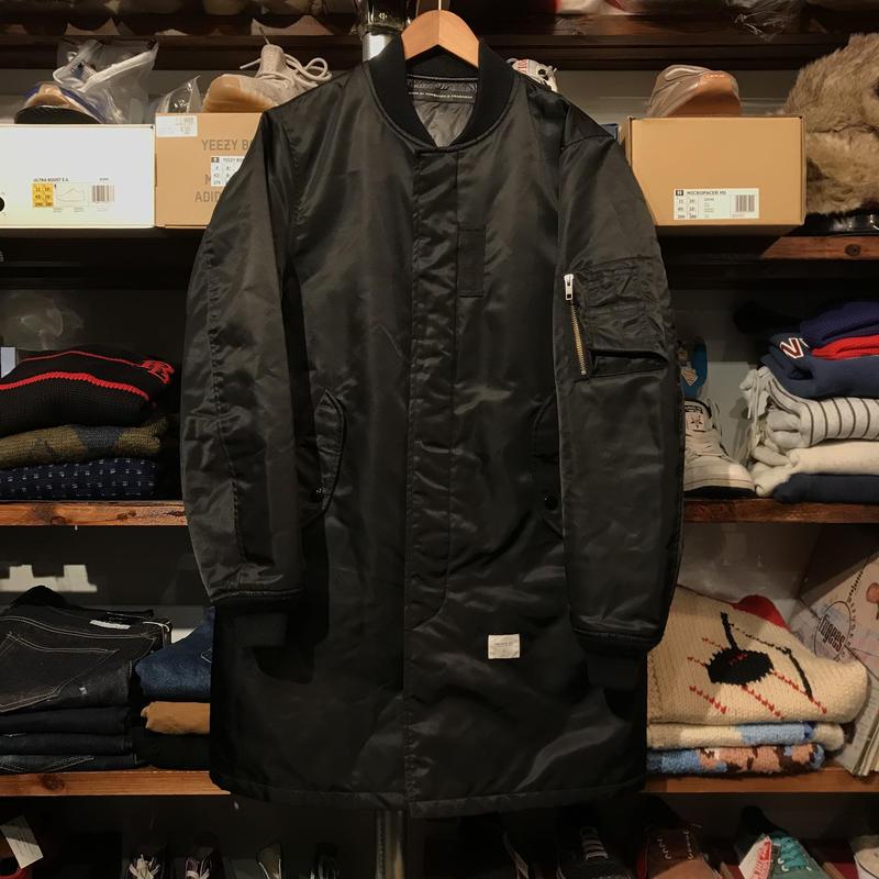 DENIM by VANQUISH & FRAGMENT nylon MA-1 coat