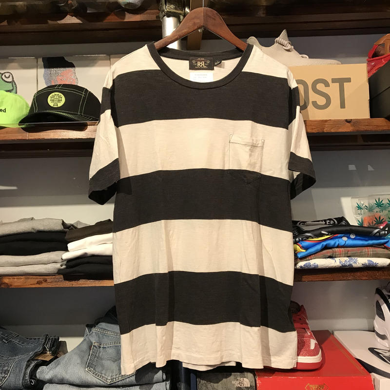 RRL wide border pocket tee (L)