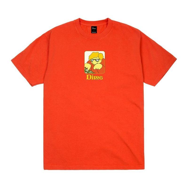 DIME TYPO T-SHIRT - Bright Orange