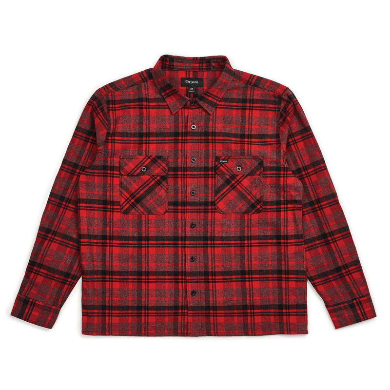 BRIXTON ARCHIE L/S FLANNEL - RED/BLACK COMBO