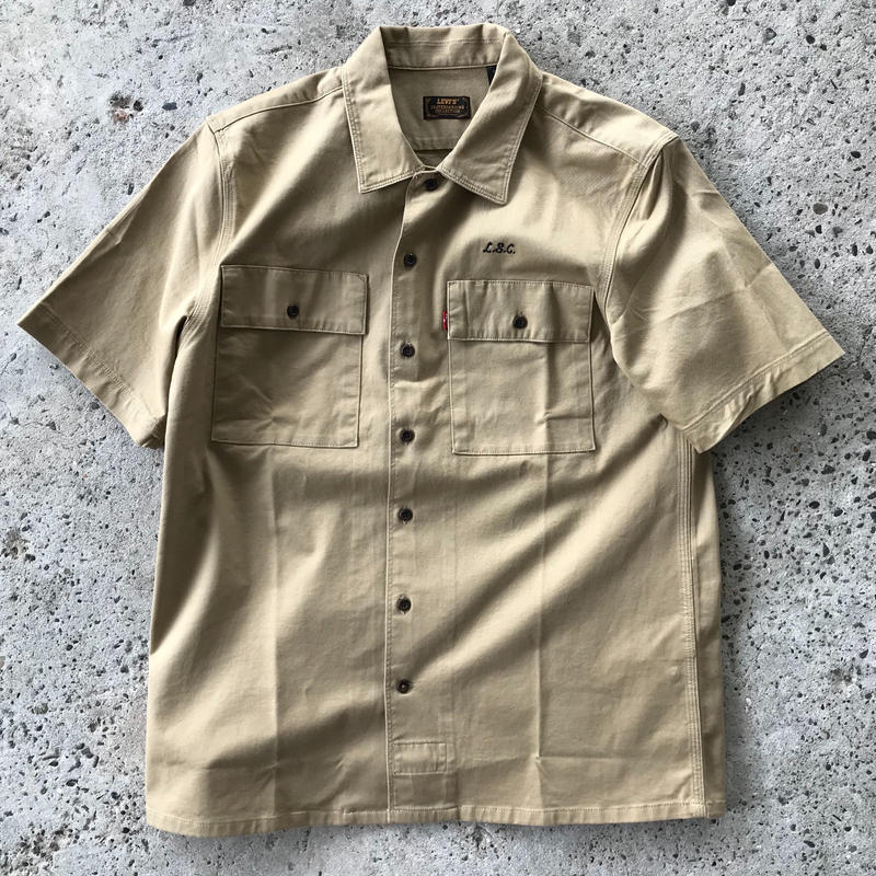 LEVI'S SKATEBOARDING BUTTON DOWN WORK SHIRT - KHAKI