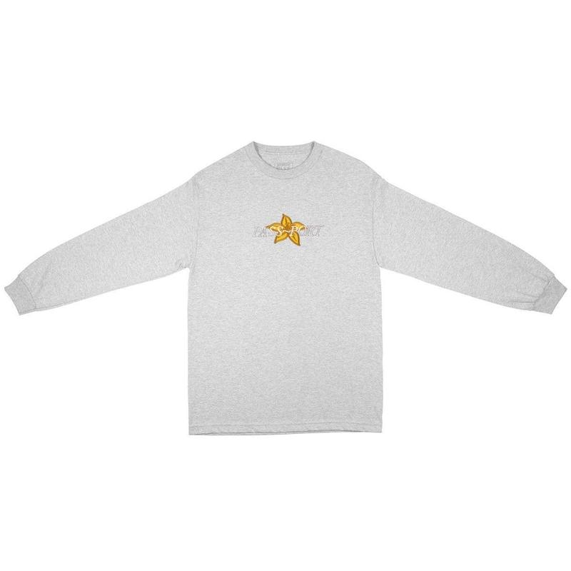 PASS~PORT DAFFODIL APPLIQUE L/S TEE - ASH GREY