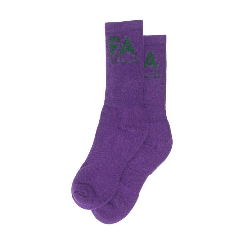 FUCKING AWESOME 3D SOCKS - Purple / Green