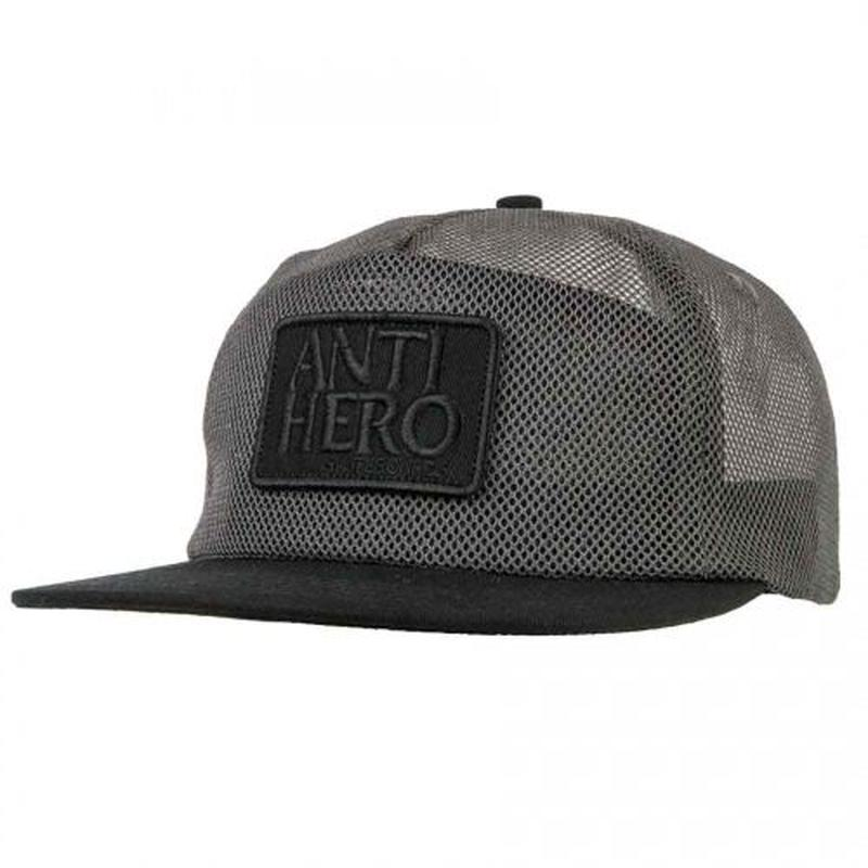 ANTI HERO RESERVE PATCH ALL MESH TRUCKER HAT - CHARCOAL