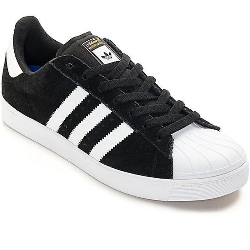 adidas skateboarding SUPERSTAR VULC ADV - BLACK/WHITE
