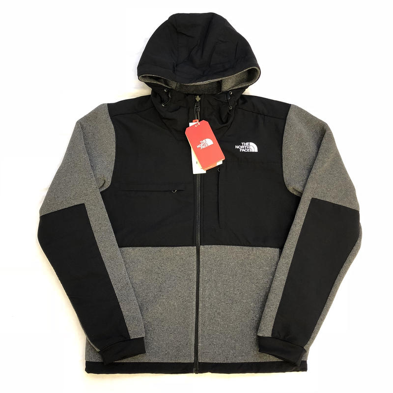 THE NORTH FACE DENALI 2 HOODIE JACKET - BLACK /GREY