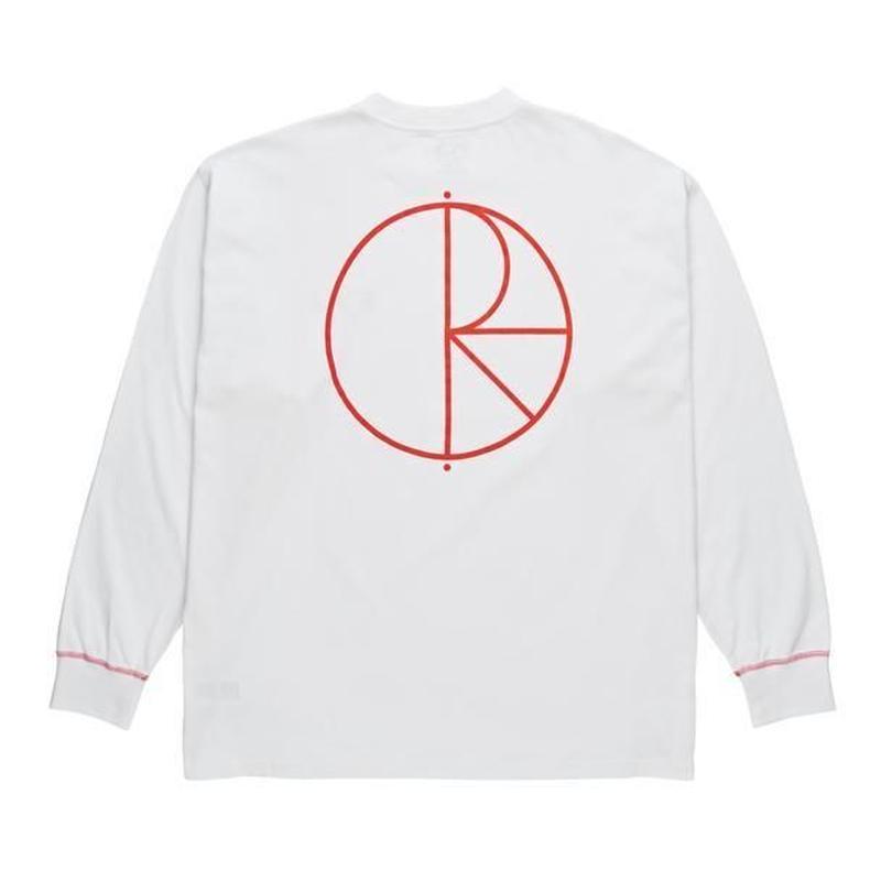 POLAR SKATE CO CONTRAST LONGSLEEVE White / Red