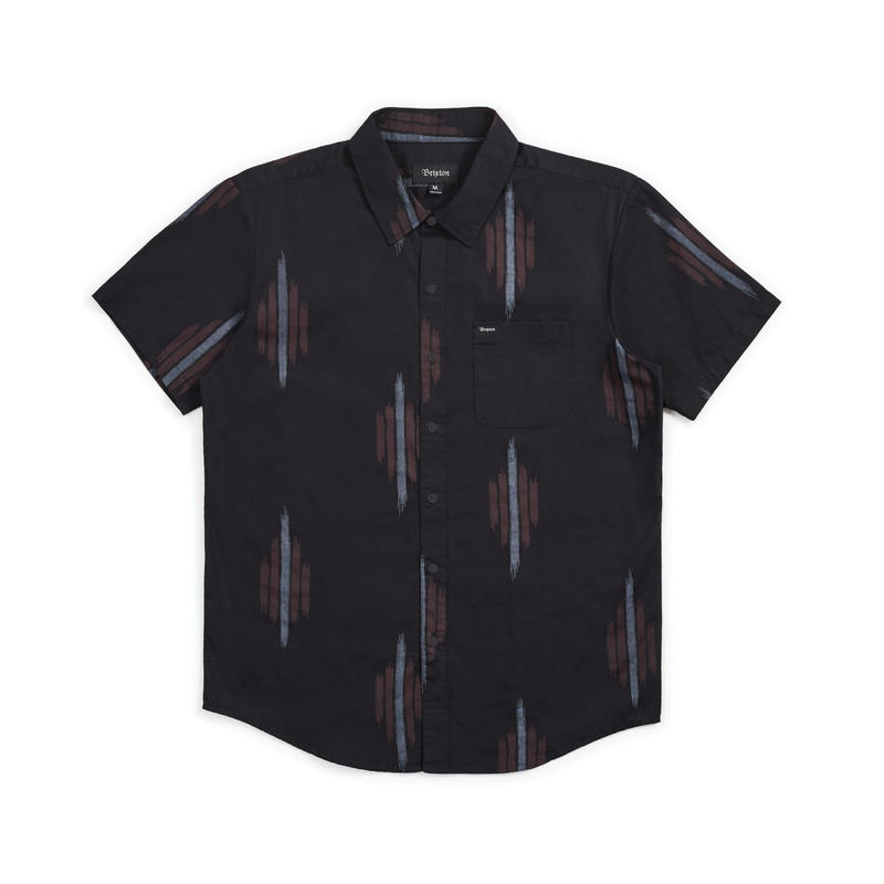 BRIXTON  CHARTER PRINT S/S WOVEN - BLACK/RED