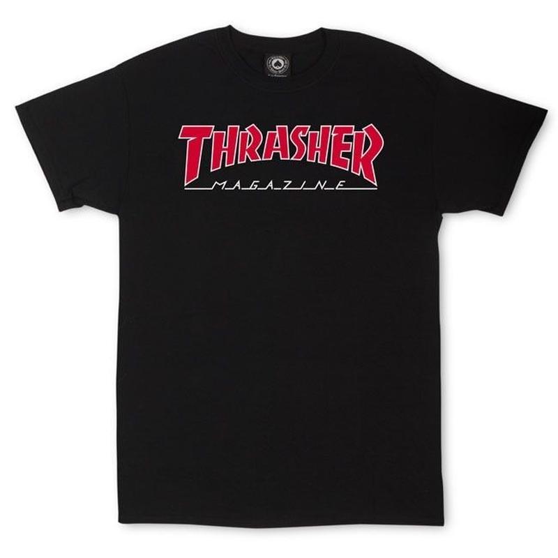 THRASHER MAGAZINE Outlined T-Shirt-Black