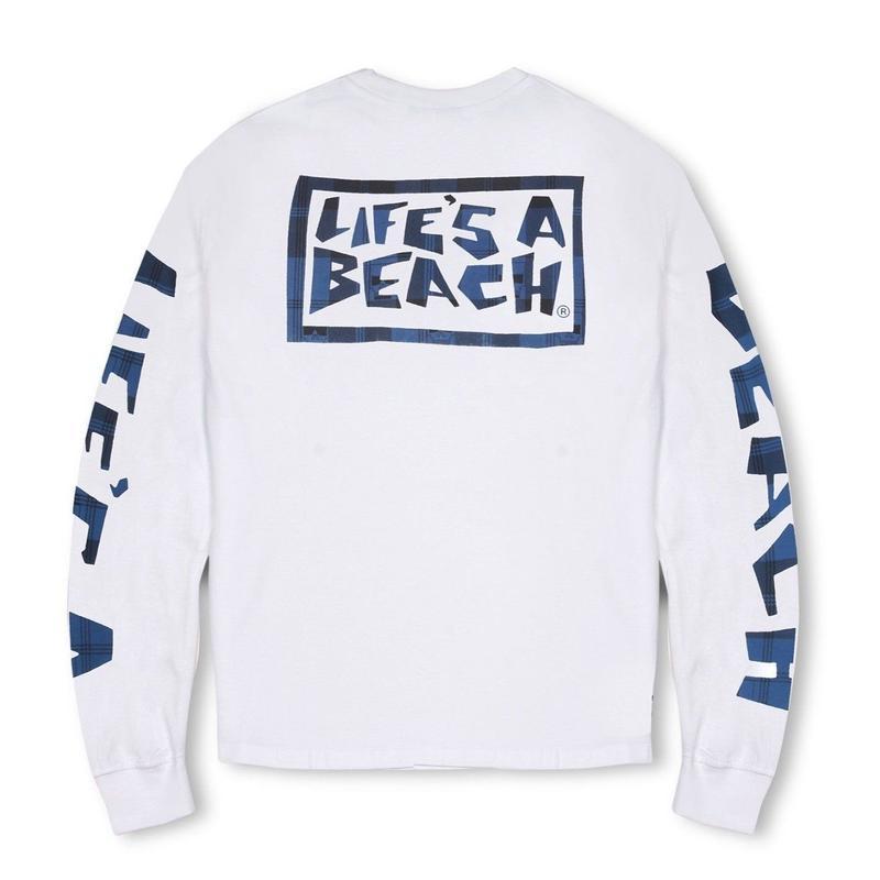 LIFE'S A BEACH Max Head All Sleeve - White