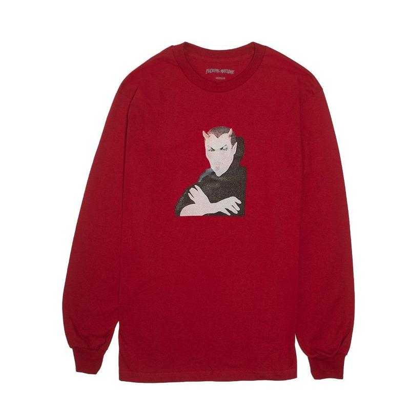 FUCKING AWESOME Charlie Babylon L/S Tee-Red