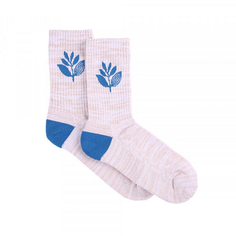 MAGENTA SKATEBOARDS SOCKS MID - WHITE/BLUE