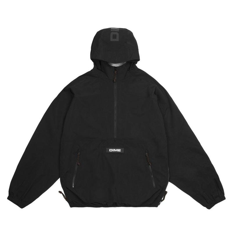 DIME PULLOVER HOODED SHELL - BLACK
