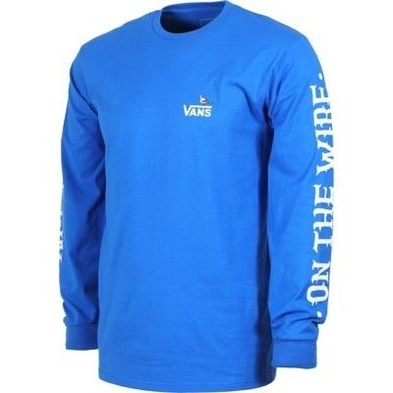 VANS x ANTI HERO ON THE WIRE L/S TEE - ROYAL